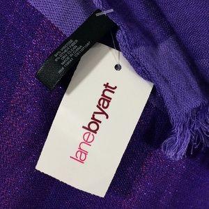 "Lane Bryant Accessories - NWT Lane Bryant purple tones wrap scarf-26""x82"""